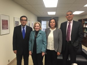 (From left to right) Ambassador Salah Sarhan fromt he League of Arab States, Ambassador Anne Patterson from the US Dept. of State, Ambassador Wafa Bughaighis from the Embassy of Libya, Ambassador Maen Areikat from the Embassy of the PLO Delegation