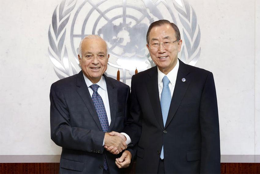 un-secretary-general-ban-ki-moon-meets-arab-league-secretary-general-dr-nabil-elaraby